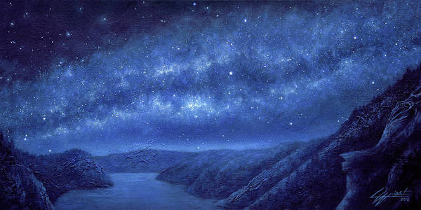 Star Path Poster featuring the painting Star Path by Lucy West