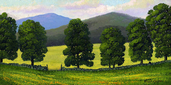 Landscape Poster featuring the painting Stonewall Field by Frank Wilson
