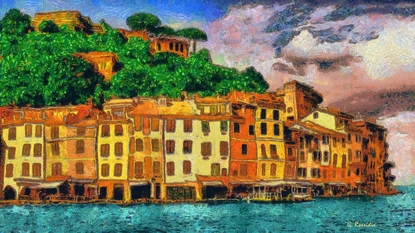 Rossidis Poster featuring the painting Portofino II by George Rossidis