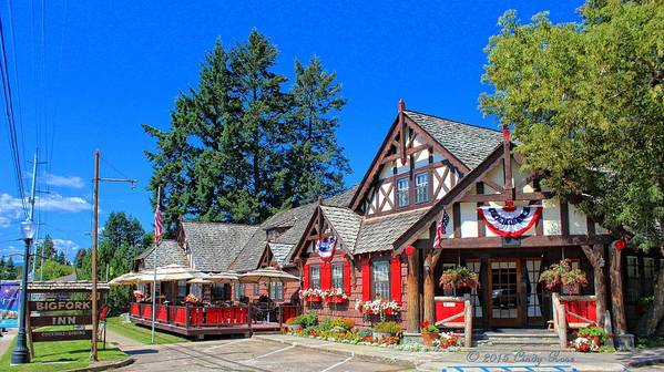 Montana Poster featuring the photograph Bigfork Inn by Cindy Rose