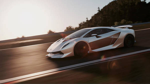 Lamborghini Sesto Elemento 12 Poster By Andrea Mazzocchetti
