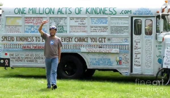 One Poster featuring the photograph Bob And The Kindness Bus by Art Dingo