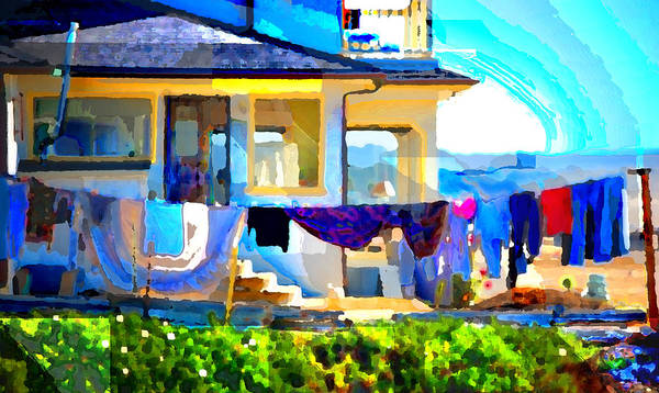 Poster featuring the digital art Beach House by Danielle Stephenson