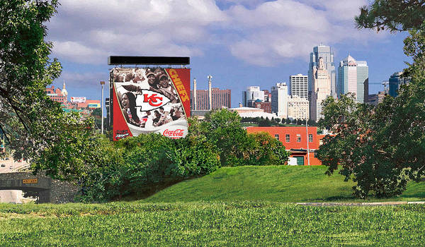 Landscape Poster featuring the photograph Kansas City Sky Line by Steve Karol