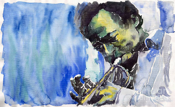 Poster featuring the painting Jazz Miles Davis 5 by Yuriy Shevchuk