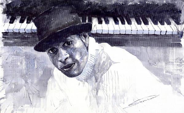 Jazz Poster featuring the painting Jazz Roberto Fonseca by Yuriy Shevchuk