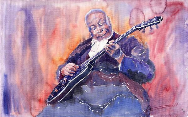 Jazz Poster featuring the painting Jazz B.b. King 03 by Yuriy Shevchuk