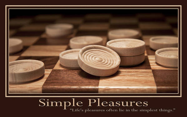 Checkers Poster featuring the photograph Simple Pleasures Poster by Tom Mc Nemar