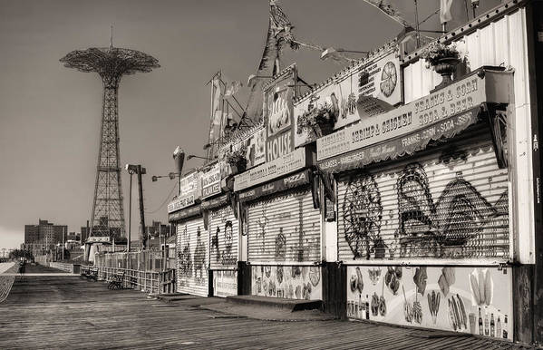 Coney Island Poster featuring the photograph Off Season by JC Findley