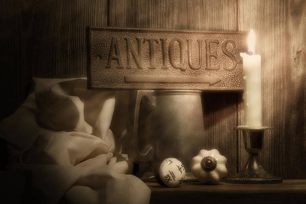 Antique Poster featuring the photograph Antiques Still Life by Tom Mc Nemar