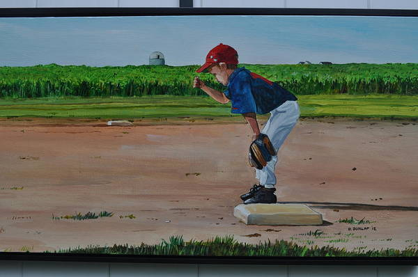Baseball Poster featuring the painting Build It And They Will Come by Bart Dunlap