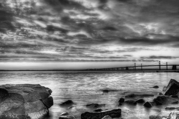 Chesapeake Bay Poster featuring the photograph Chesapeake Splendor Bw by JC Findley
