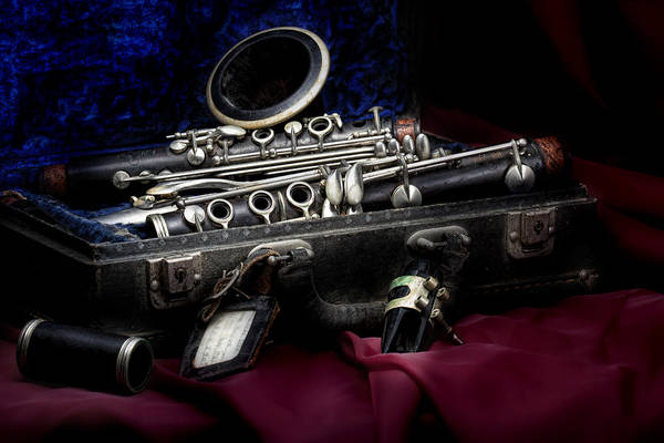 Art Poster featuring the photograph Clarinet Still Life by Tom Mc Nemar