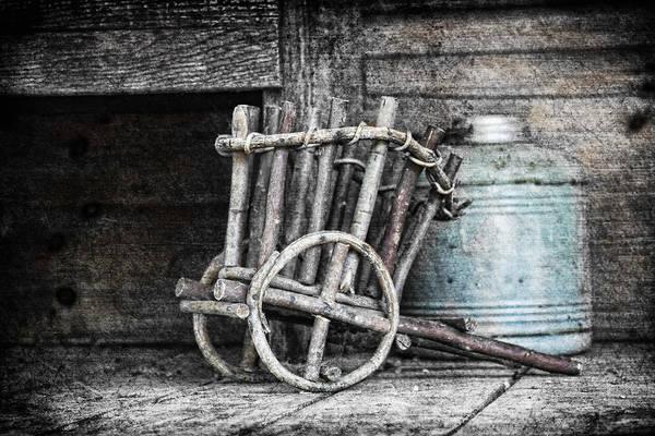Art Poster featuring the photograph Folk Art Cart Still Life by Tom Mc Nemar
