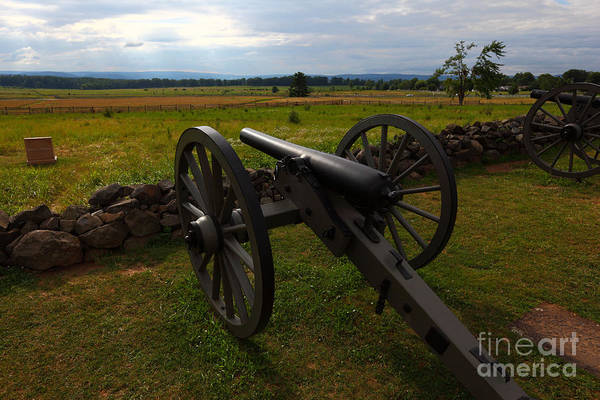 Gettysburg Poster featuring the photograph Gettysburg Battlefield Historic Monument by James Brunker