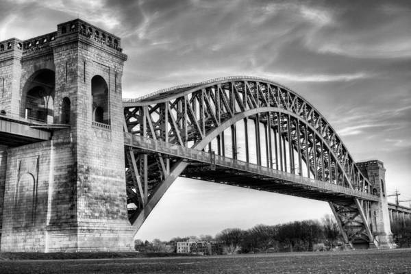 Manhattan Poster featuring the photograph Hell Gate Bw by JC Findley