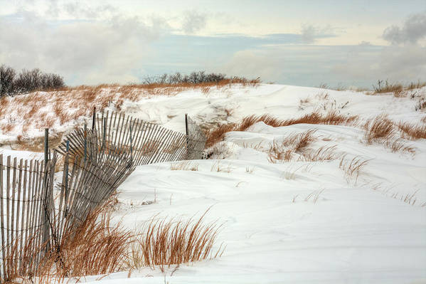 Jones Beach Poster featuring the photograph Island Snow by JC Findley