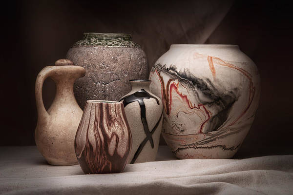 Amphora Poster featuring the photograph Pottery Still Life by Tom Mc Nemar