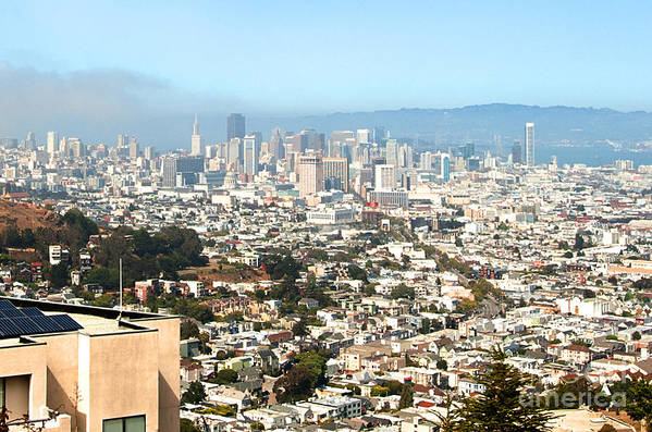 Poster featuring the photograph San Francisco City Vista by Artist and Photographer Laura Wrede