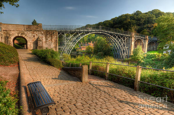 Architecture Poster featuring the photograph Ironbridge England by Adrian Evans