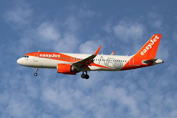 Easyjet Poster featuring the photograph Easyjet Airbus A320-251n by Smart Aviation