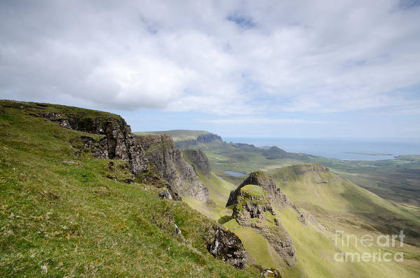 Quiraing Scotland Poster featuring the photograph The Quiraing by Smart Aviation