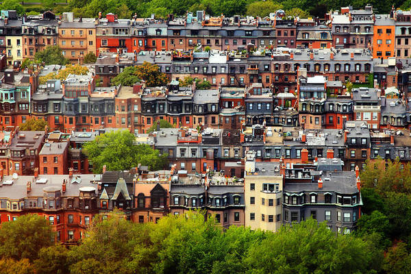 Boston Poster featuring the photograph Back Bay by Rick Berk