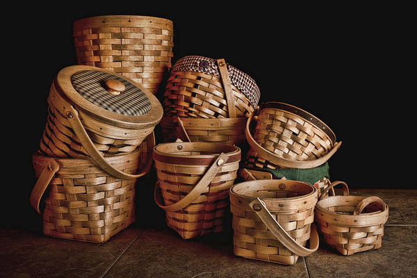 Basket Poster featuring the photograph Basket Still Life 01 by Tom Mc Nemar