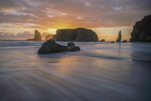 Bandon Poster featuring the photograph Beach Time by Patricia Davidson