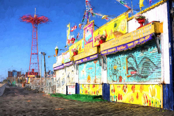 Coney Island Poster featuring the photograph Colorful by JC Findley