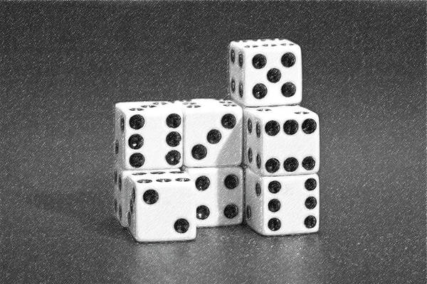 Dice Poster featuring the photograph Dice Cubes IIi by Tom Mc Nemar