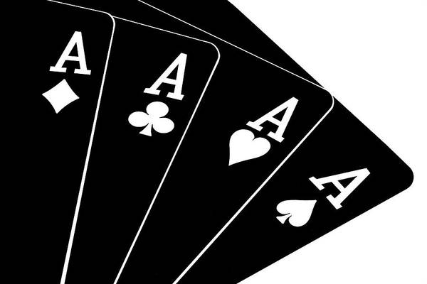 Cards Poster featuring the photograph Four Aces II by Tom Mc Nemar
