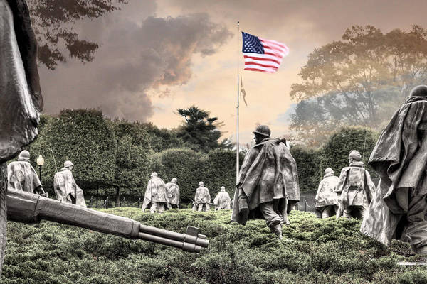 Korean War Memorial Poster featuring the photograph Guardians by JC Findley