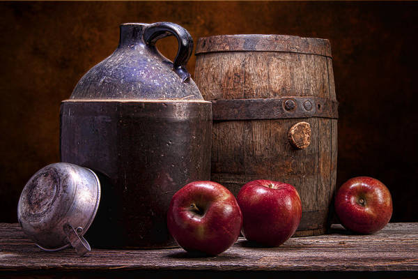 Aged Poster featuring the photograph Hard Cider Still Life by Tom Mc Nemar