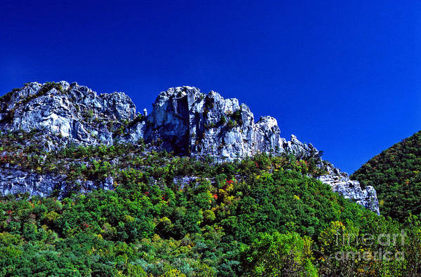 West Virginia Poster featuring the photograph Seneca Rocks National Recreational Area by Thomas R Fletcher