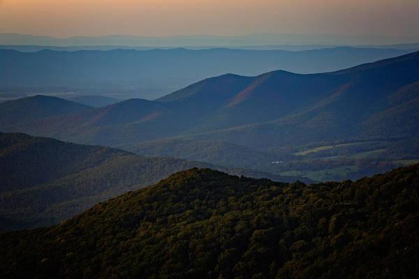Shenandoah Valley Poster featuring the photograph Shenandoah Valley At Sunset by Rick Berk