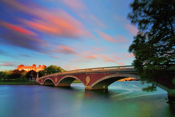 John W. Weeks Bridge Poster featuring the photograph Weeks' Bridge by Rick Berk