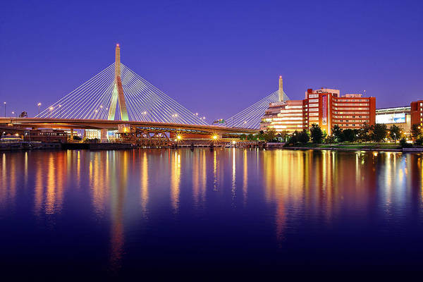 Boston Poster featuring the photograph Zakim Twilight by Rick Berk