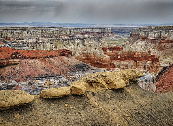 Coal Mine Canyon Poster featuring the photograph Coal Mine Canyon by Robert Jensen