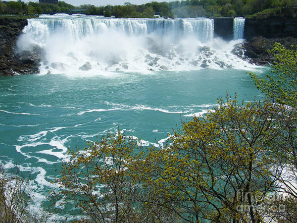American Falls Poster featuring the photograph Niagara - American Falls In Spring by Phil Banks