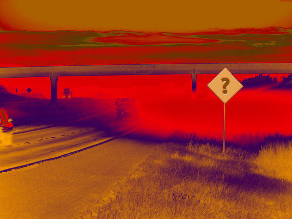 Expressway Poster featuring the digital art You Are Where by Wendy J St Christopher