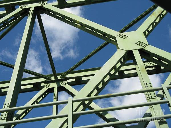 Architecture Poster featuring the photograph Truss by Arlene Carmel