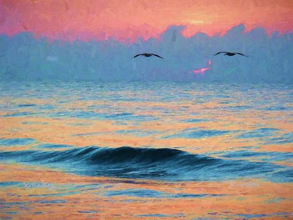Pelican Poster featuring the photograph Dawn Patrol by JC Findley