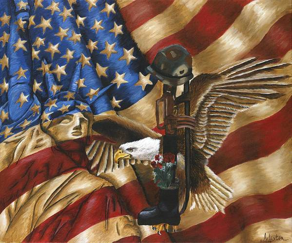 Tribute Poster featuring the painting Freedom by Renee Lindsey