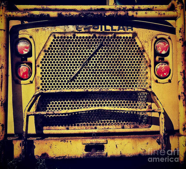 Caterpillar Poster featuring the photograph Dump Truck Grille by Amy Cicconi