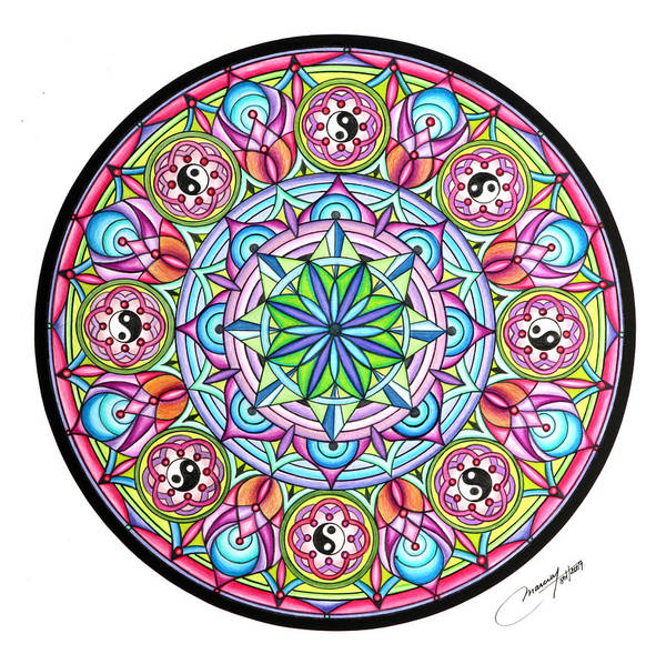 Mandala Poster featuring the painting Perfect Balance by Marcia Lupo