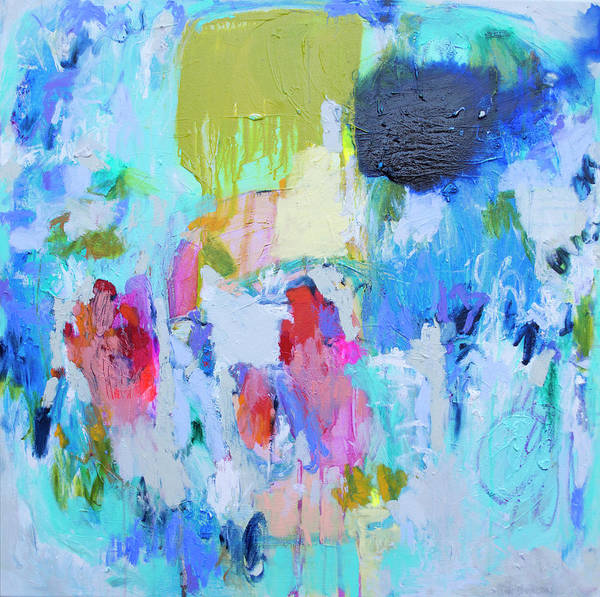 Abstract Poster featuring the painting Soul Feeling by Claire Desjardins