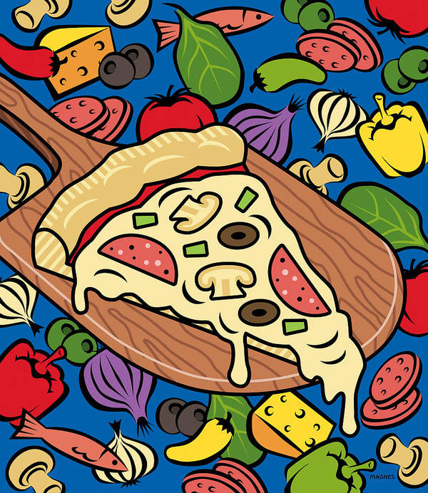 Pizza Poster featuring the digital art Slice Of Pie by Ron Magnes