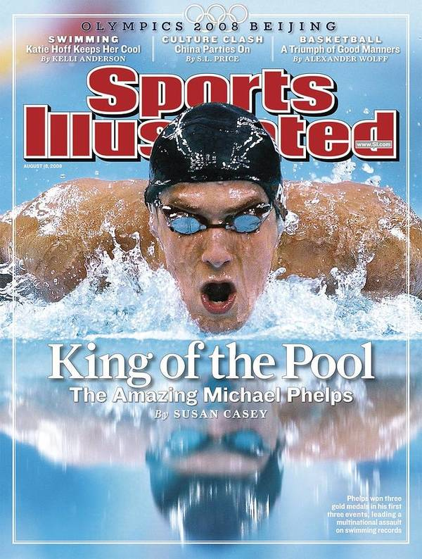Magazine Cover Poster featuring the photograph , 2008 Summer Olympics Sports Illustrated Cover by Sports Illustrated