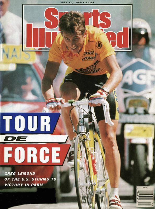 Magazine Cover Poster featuring the photograph Adr Agrigel Greg Lemond, 1989 Tour De France Sports Illustrated Cover by Sports Illustrated